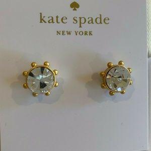 Kate Spade Flying Colors Crystal Bezel Earrings